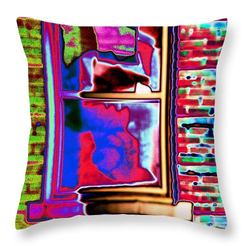 Window Throw Pillow featuring the digital art Window 1 by Tim Allen