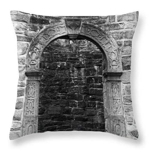 Irish Throw Pillow featuring the photograph Window at Donegal Castle Ireland by Teresa Mucha