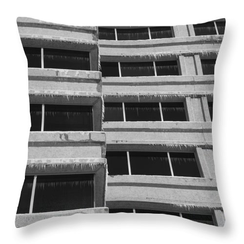 Window Throw Pillow featuring the photograph Window Cicles by Lauri Novak
