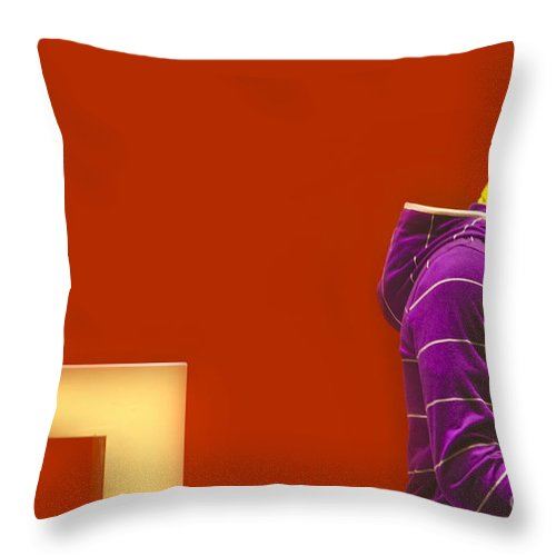 Display Throw Pillow featuring the photograph Window Display by Charuhas Images