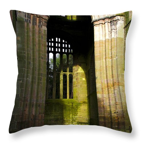 Castle Throw Pillow featuring the photograph Window Entrance by Svetlana Sewell