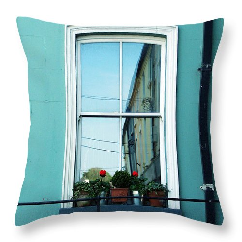 Irish Throw Pillow featuring the photograph Window In Ennistymon Ireland by Teresa Mucha