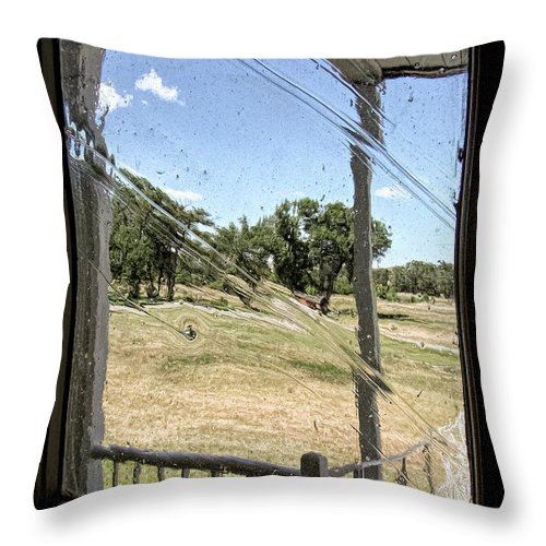 David Lawson Photography Throw Pillow featuring the photograph Window In Time by David Lawson