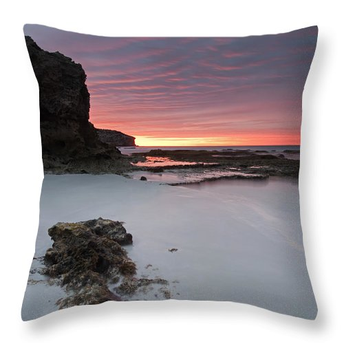 Sunrise Throw Pillow featuring the photograph Window On Dawn by Mike Dawson