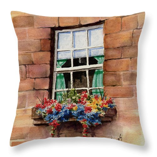 Window Throw Pillow featuring the painting Window by Sam Sidders