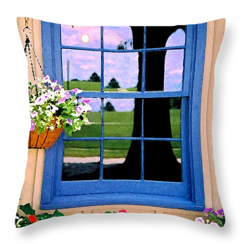Still Life Throw Pillow featuring the photograph Window by Steve Karol