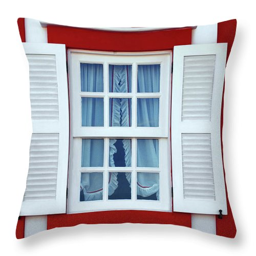 Nova Throw Pillow featuring the photograph Window Stripes by Carlos Caetano