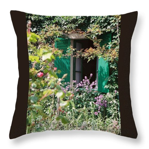 Charming Throw Pillow featuring the photograph Window To Monet by Nadine Rippelmeyer