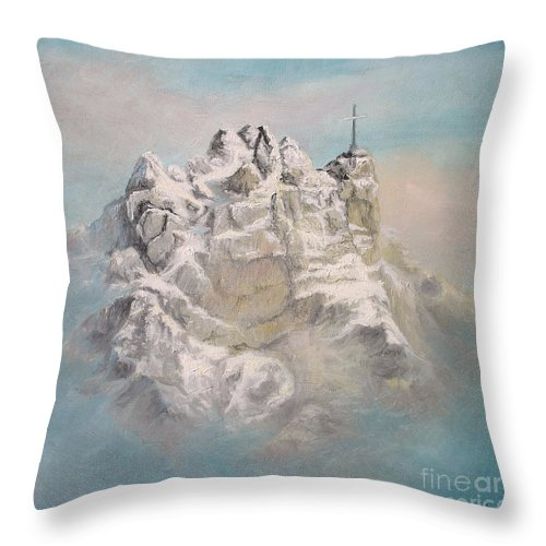 Window Throw Pillow featuring the painting Window To Sky by Sorin Apostolescu