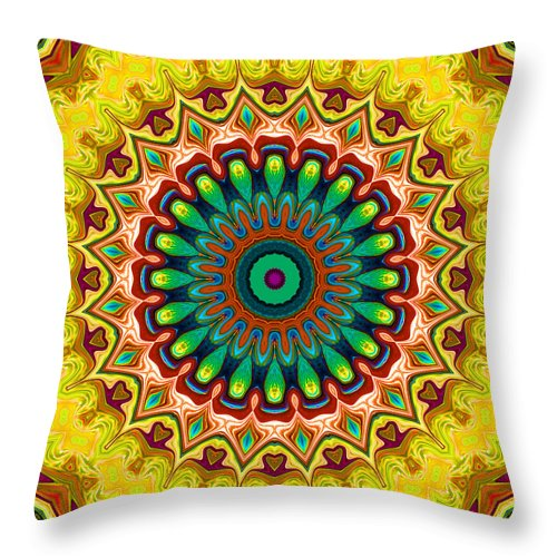 Digital Throw Pillow featuring the digital art Window To Soul No. 6 by Joy McKenzie