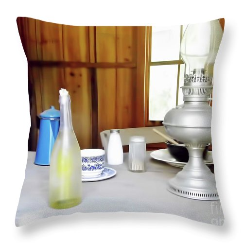 Window Throw Pillow featuring the photograph Window To The Past by D Hackett