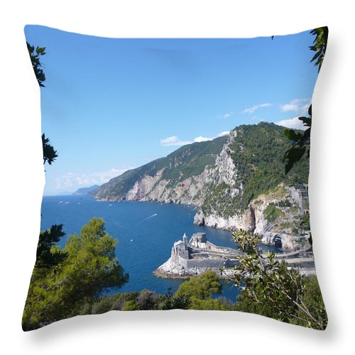 Seascape Throw Pillow featuring the photograph Window To The Sea by Laura Greco