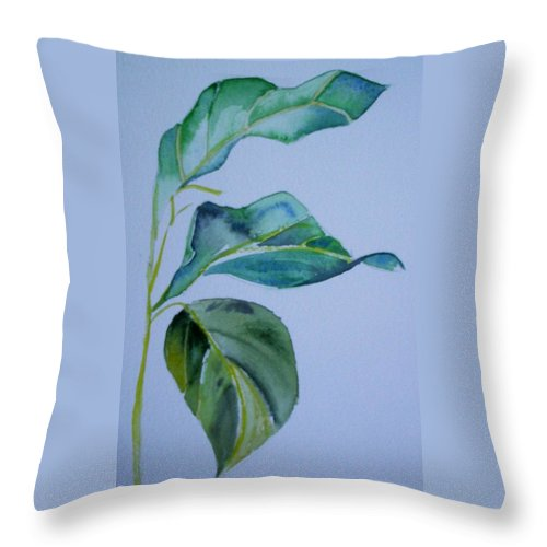 Nature Throw Pillow featuring the painting Window View by Suzanne Udell Levinger