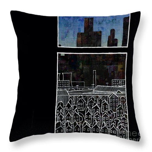 Window Throw Pillow featuring the digital art Windows 7 by Andy Mercer