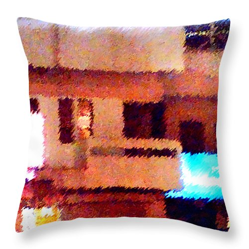 Digital Art Throw Pillow featuring the painting Windows by Anil Nene