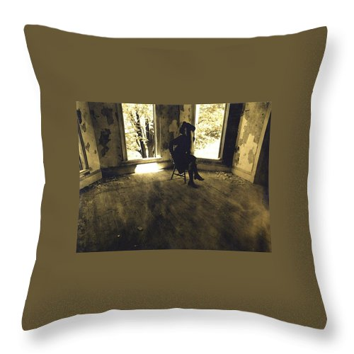 Throw Pillow featuring the photograph Windows by Chris and Rosemary Elling