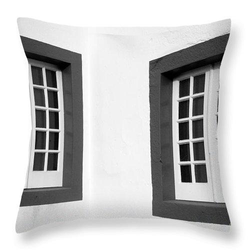 Azores Throw Pillow featuring the photograph Windows by Gaspar Avila