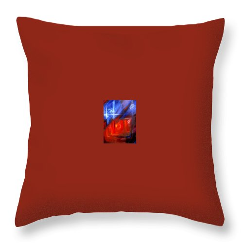 Abstracts Throw Pillow featuring the painting Windows by James Christopher Hill