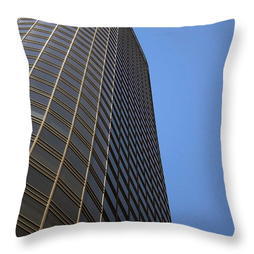 Building Throw Pillow featuring the photograph Windows To The Top by Karol Livote