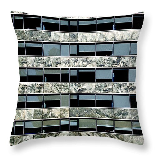 Buenos Aires Throw Pillow featuring the photograph Windows X by Osvaldo Hamer
