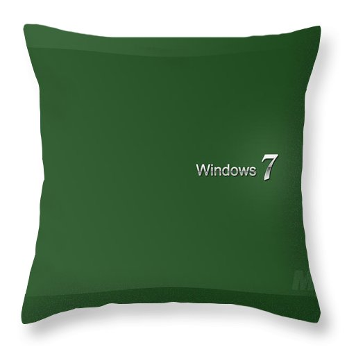 Windows Throw Pillow featuring the digital art Windows by Zia Low
