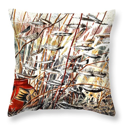 Offering Throw Pillow featuring the painting Winds Of Fortune by Patricia Allingham Carlson