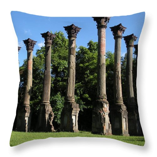 Plantation Throw Pillow featuring the photograph Windsor Mansion 1 by Nelson Strong
