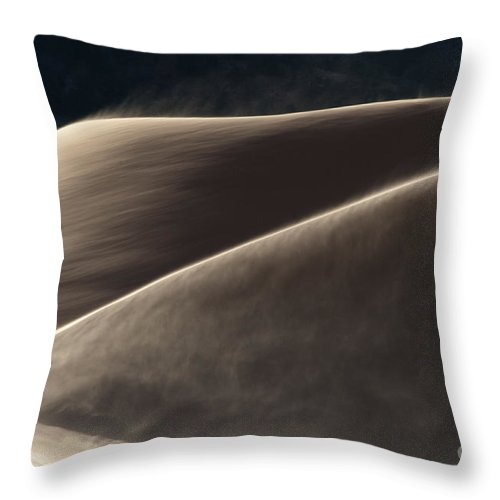 Southwest Throw Pillow featuring the photograph Windswept Dunes by Sandra Bronstein