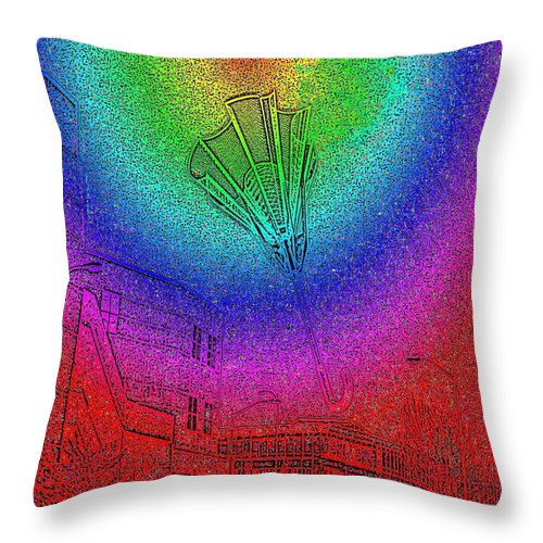 Seattle Throw Pillow featuring the photograph Windy by Tim Allen