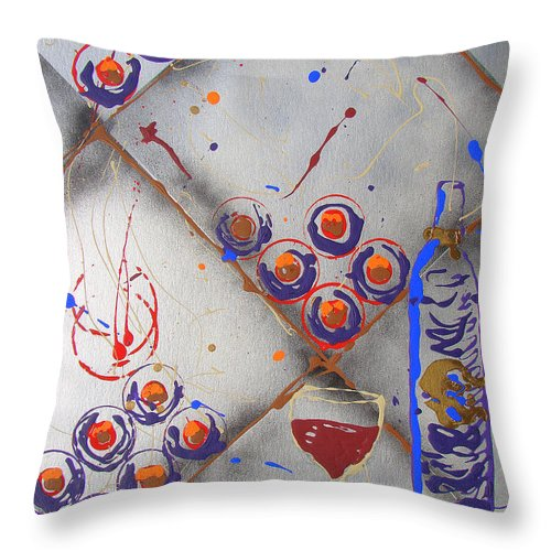 Wine Throw Pillow featuring the painting Wine Connoisseur by J R Seymour