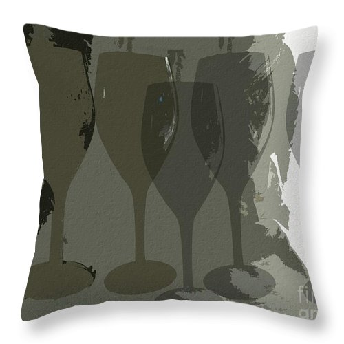 Wine Throw Pillow featuring the photograph Wine Glass Abstract by Dorlea Ho