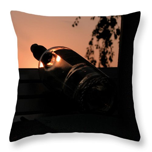 Wine Throw Pillow featuring the photograph Wine On Down by Michael Mooney