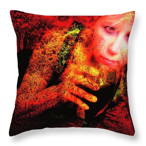 Clay Throw Pillow featuring the photograph Wine Woman And Fall Colors by Clayton Bruster