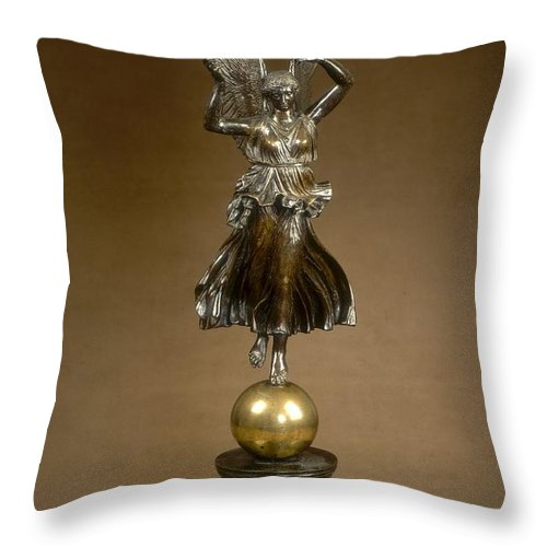 Throw Pillow featuring the photograph Winged Victory by Antonio Canova, After The Antique