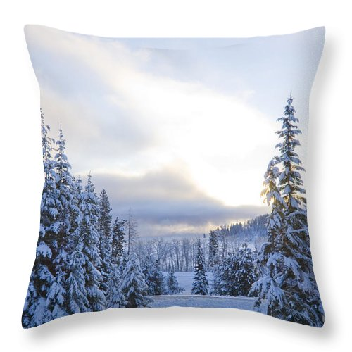 Winter Throw Pillow featuring the photograph Winter Atmosphere by Idaho Scenic Images Linda Lantzy
