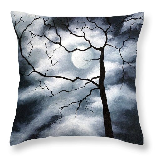 Winter Throw Pillow featuring the painting Winter Evening by Elizabeth Lisy Figueroa