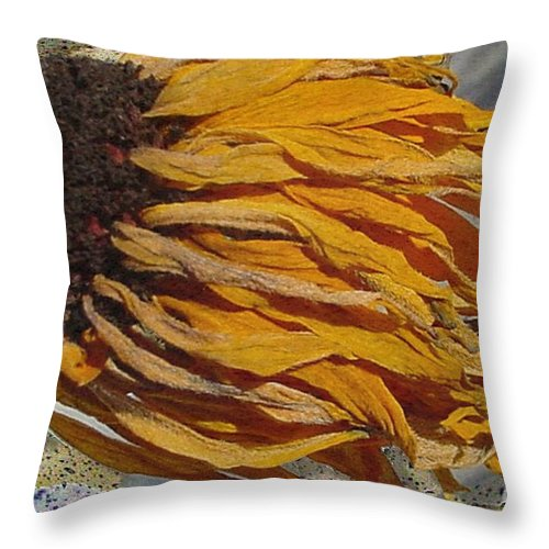 Digital Art Throw Pillow featuring the digital art Winter Flower by Ron Bissett