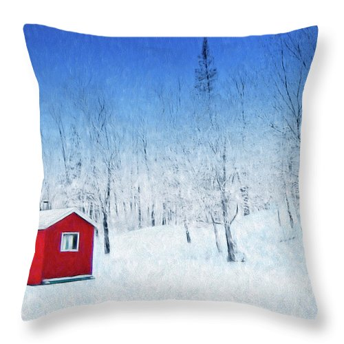 Winter Haven Throw Pillow featuring the painting Winter Haven by Dominic Piperata