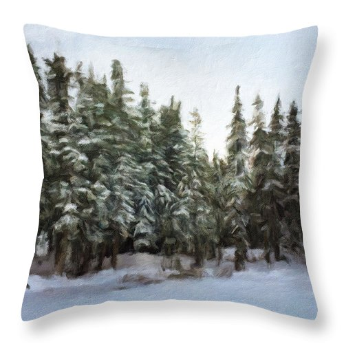 Yosemite Throw Pillow featuring the photograph Winter by Jonathan Nguyen