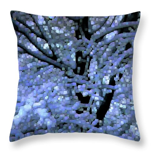 Abstract Throw Pillow featuring the digital art Winter Light by Dave Martsolf