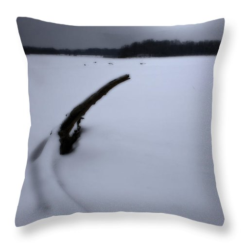 Winter Throw Pillow featuring the photograph Winter Moonrise by Kenneth Krolikowski