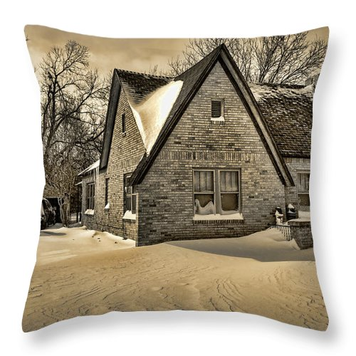 Winter Throw Pillow featuring the photograph Winter Snow II by Ricky Barnard