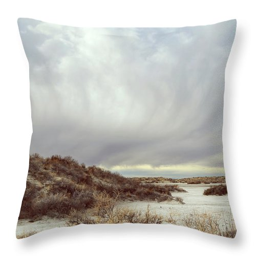 Landscapes Throw Pillow featuring the photograph Winter Storm Clouds 2018-2289 by Karen W Meyer