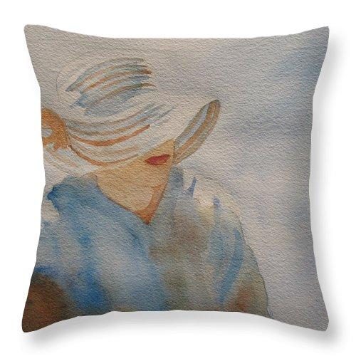 Girls Throw Pillow featuring the painting Winter Sun I by Jenny Armitage