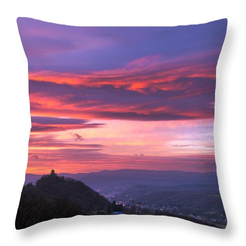 Winter Throw Pillow featuring the photograph Winter Sunrise by Andre Distel