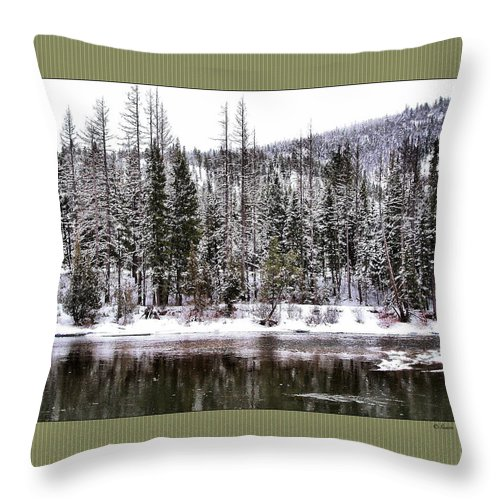 Montana Throw Pillow featuring the photograph Winter Trees by Susan Kinney