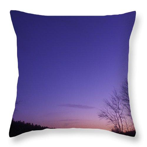 Quabbin Reservoir Throw Pillow featuring the photograph Winter Twilight Quabbin Reservoir by John Burk