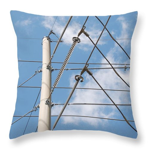 Sky Throw Pillow featuring the photograph Wired Sky by Rob Hans