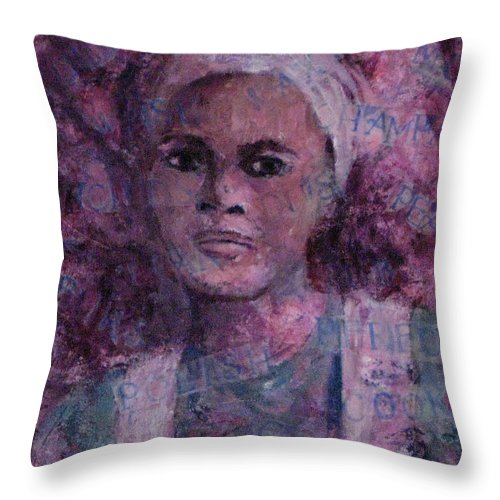 Woman Throw Pillow featuring the mixed media Wishful Thinking by Connie Freid