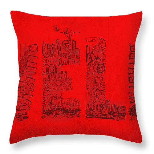 Wishing Well Throw Pillow featuring the digital art Wishing Well by Laura Brightwood